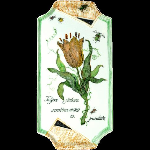 Zuckertableau-Tulipa-globosa-(Porzellan-20x10,5)